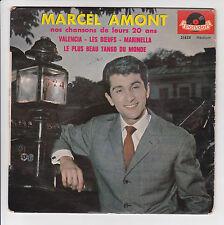 AMONT Marcel Vinyl 45T EP NOS CHANSONS DE LEURS 20 ANS - POLYDOR 21828 Languette