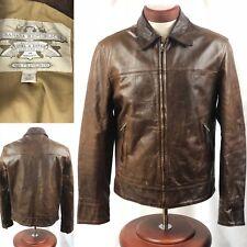 Mens Banana Republic Leather Safari Jacket Die Hard Bruce Willis Size Medium