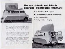Bedford CA Dormobile Caravan 1957-59 UK Market Leaflet Sales Brochure 2 4 Berth