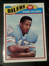 1977 Topps RONNIE COLEMAN #407  Houston Oilers  Alabama A&M