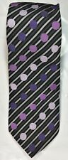 Stacy Adams Mens Silk Tie Colored Dots and Stripes