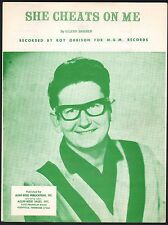 She Cheats On Me 1968 Roy Orbison Sheet Music