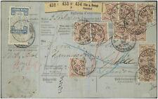 Württemberg Mi 59 MiF Paketkarte nach Bulgarien