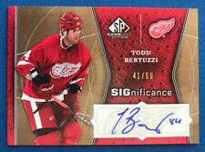Todd Bertuzzi 2009/10 UD SP Game-Used SIGnificance Autograph #41/50