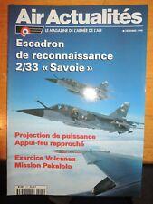 Revue Aviation : Air actualités Escadron de Reconnaissance 2/33 Savoie