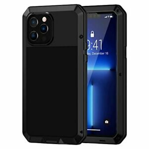 Heavy Duty Case for iPhone 13 Pro Max Shockproof Cover Tough Armour Metal Black