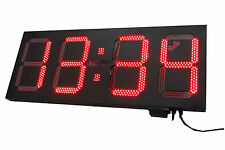 "12"" LED Digital countdown timer Outdoor wall mounted Clock temperature display"