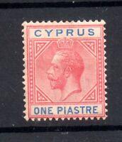 Cyprus 1921-23 KGV 1pi carmine & blue mint MH SG89 WS20591