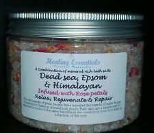 Sales De Baño infundido con pétalos de rosa 400g 100% puro natural ricas en minerales