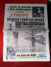 journal l'équipe 16/04/2001 CYCLISME PARIS ROUBAIX 2001 SERVAIS KNAVEN FORMULE 1