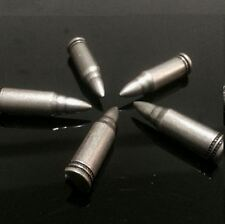 5 Stück Nieten Ziernieten Patrone Munition Bullet Western Metal Gothik 32 mm