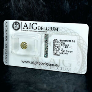 Diamant 1.03 ct Zertifikat AIG Antwerp Brilliant Good/Good/Good sealed