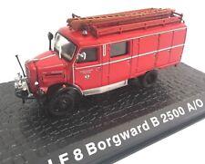Firefighters Truck LF8 BORWARD B2500 A/O 1:72 Diecast Ixo Atlas