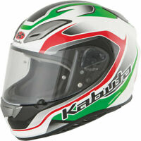 Kabuto Aeroblade III Torrent Motorcycle Helmet White / Green / Red 2XL