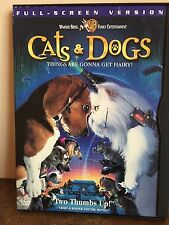 "CATS & DOGS MOVIE DVD 2001 ""THINGS ARE GONNA GET HAIRY!"" RATED PG"