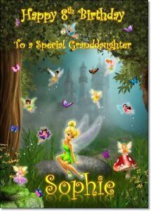 Fairy Princess Personalised Birthday Card Daughter Granddaughter sister Niece