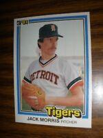 1981 Donruss  #127 Jack Morris Detroit Tigers  Hall of Fame   NrMt