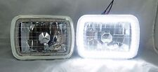 1978-1986 Ford F-150 7X6 H6014/6052/6054 Chrome Crystal SMD Ring Halo White H...