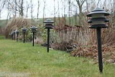 Bassa Energia illuminazione da giardino-Set di 10 PAGODA BASSA TENSIONE percorso Luci Spina UK