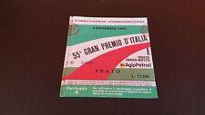 BIGLIETTO GRAN PREMIO D'ITALIA DI FORMULA 1 MONZA 9 SETTEMBRE 1984