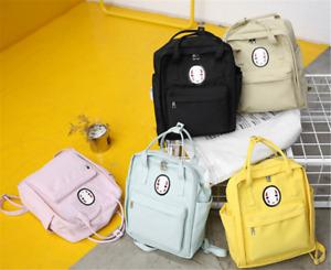Japanese No Face man Backpack Shoulder Bag Canvas School Bag Pink Laptop Bag