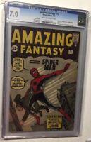 Amazing Fantasy 15 Spider-man 1 2 3 4 5 6 7 8 9 10-12 13 14 15 16-19 Cgc 7.0+