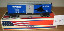 LIONEL #29997 UNITED STATES AIR FORCE USAF BOXCAR TRAIN O GAUGE AMERICA MILITARY