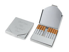 Personalised Cigarette Case / Holder With Silver Finish - Engraved For You