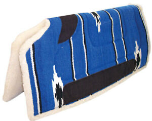 Western Saddle CutBack Navaho Pad for High Withers 81cm x 81cm [Blue]