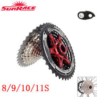 Sunrace MTB/Road Bike Cassette 8/9/10/11Speed Bicycle Cassette fit SHIMANO SRAM