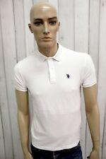 US POLO ASSN Uomo Taglia Bianco XS Cotone T-Shirt Casual Maglietta Manica Corta