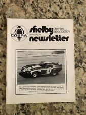 Shelby Cobra Owners Association Newsletter June July 1975 New MINT Rare