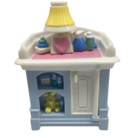 Fisher Price Loving Family Dollhouse Blue Baby Doll Changing Table Nursery 1999
