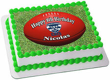AFL  GEELONG CATS   EDIBLE  ICING  CAKE TOPPER PARTY IMAGE FROSTING SHEET