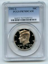 1991 S 50C Kennedy Half Dollar Proof PCGS PR70DCAM