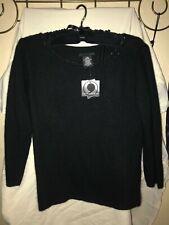 Apostrophe sweater Women's Nwt. Size large angora acrylic blend black any occasi