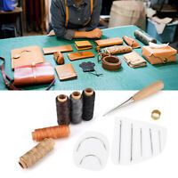 Prettyia 14Pcs Canvas Leather Tent Sewing Awl Hand Stitcher Leather Craft Needle Crafts Tool