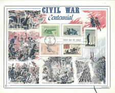#1178-82  First Day Souvenir Card Civil War Battles Centennial Stamps