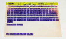 Microfich Teilekatalog Ersatzteilkatalog Cagiva Super City 125 Stand 06/1991