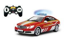 Jamara 405129 Mercedes E350 Coupe 1:16 Feuerwehr weiß-rot Ferngesteuert 2,4 GHz