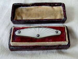 Antique Boxed Mother of Pearl Sewing Tool, Thread Cutter