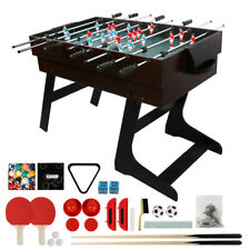 4in1 Arcade Table Air Hockey Foosball Ping Pong Billiards Fun Game Room 4ft