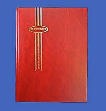 16 White Pages Supersafe Stamp Stock Book 8 Folio Hardback Red Cover