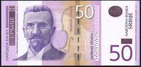 2014 Serbia 50 Dinara Banknote * AA 0009194 * aUNC * P-56b *