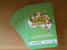 ** Woolworths Aussie Animals Cards ** 4 for $1.00 ** (Light Green Edition)  **