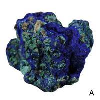Natural Azurite Malachite Crystal Mineral Specimen Blue Reiki Healing Stone J4Y0