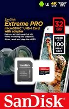 Genuine Sandisk 32GB Extreme Pro Micro SD SDHC Card, V30, A1 100Mb/s