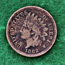 1862 COPPER-NICKEL INDIAN HEAD CENT in VERY GOOD (VG) CONDITION