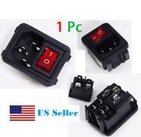 10A 120V Inlet Module Plug (no Fuse) Switch Male Power Socket IEC320