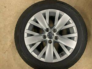 """VW Polo 6R 6C 15"""" Silver SINGLE Alloy Wheel 5 Stud 6j ET40 6R0601025AK SPOKANE"""